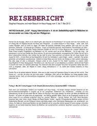 Reisebericht Mai 2013 - Hayag