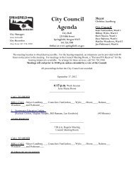 City Council Agenda - City of Springfield