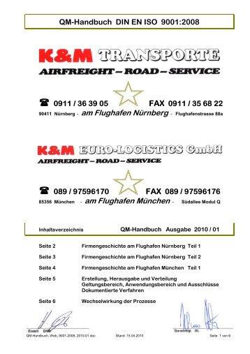 QM Handbuch DIN EN ISO 9001 Protec
