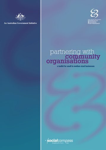 partnering with community organisations - Department of Families ...