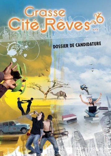 Dossier de Candidature Cité Rêves 2011/2012 - Art Côte d'Azur