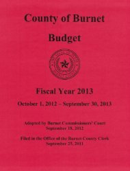 Annual Budget - Burnet County