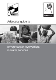 Advocacy guide to private sector involvement in water ... - WaterAid
