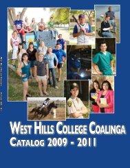 2009 - 2011 Academic Catalog - West Hills College