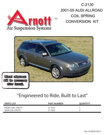 New Coil Spring Conversion Kit - Arnott Industries
