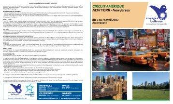 CIRCUIT AMÉRIQUE NEW YORK • New Jersey du 7 au 9 avril 2012