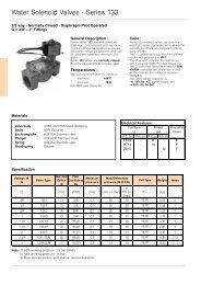 Water Solenoid Valves - Series 133