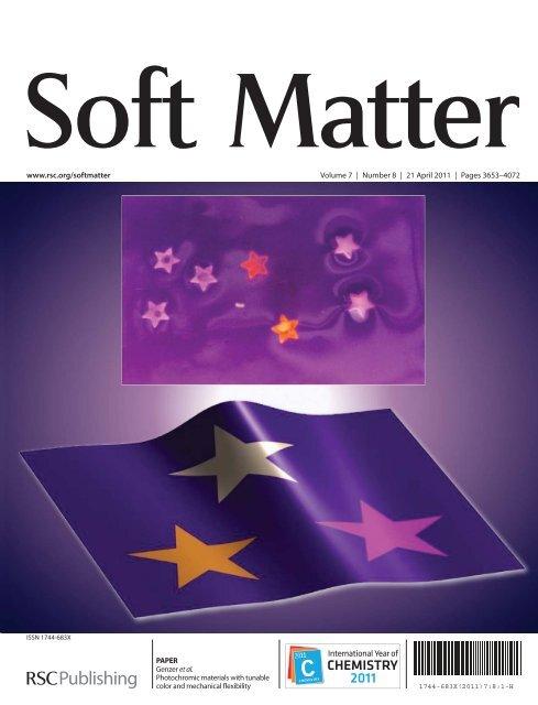 www.rsc.org/softmatter Volume 7   Number 8   21 April 2011   Pages ...