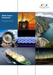 White Paper: Scenarios - World Energy Council