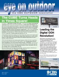 TThhee CCUUBBEE TTuurrnnss HHeeaaddss iinn ... - CBS Outdoor