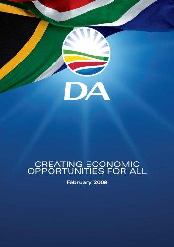 MDU-349 DA Creating Economic Op Book2.pdf - Democratic Alliance