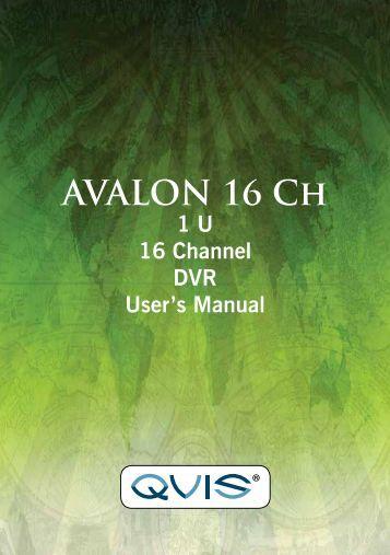 Avalon 16 Channel Manual - Qvis Security
