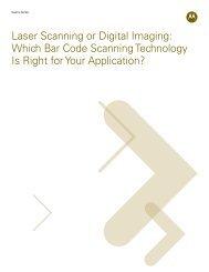 Laser Scanning or Digital Imaging - Motorola Solutions