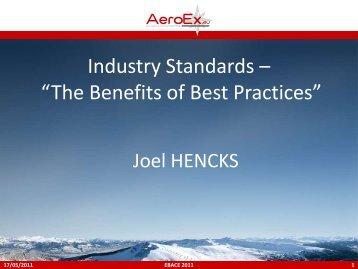 Industry Standards – The Benefits of Best Practices, Joel ... - eBace