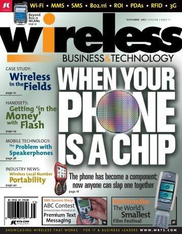 Wireless - sys-con.com's archive of magazines - SYS-CON Media