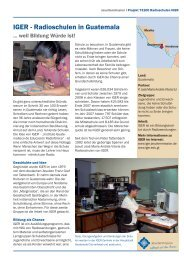 IGER - Radioschulen in Guatemala - Jesuitenmission