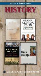 2012 SAVE 30% - University of Illinois Press