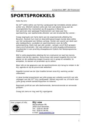 Uitslag landjuweel - KLJ Zaffelare