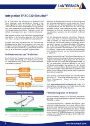 Integration TRACE32-Simulink® - Lauterbach