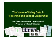 Value of Using Data Part 2 - Center for Educational Measurement, Inc.
