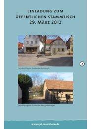 einladung zum öffentlichen stammtisch 29. März 2012