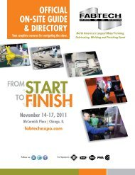 2011 Show Directory - Fabtech