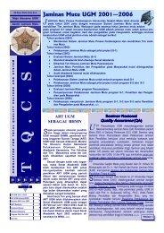 03.Edisi_Maret_2003 - Kantor Jaminan Mutu - Universitas Gadjah ...