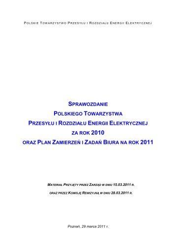Pobierz sprawozdanie (plik PDF) - Polskie Towarzystwo Przesyłu i ...