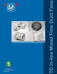 TD In-line Mixed Flow Duct Fans - Soler & Palau
