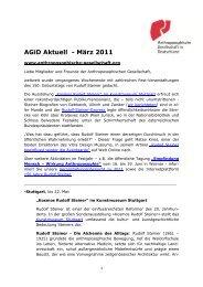 AGiD Aktuell - März 2011 - Anthroposophische Gesellschaft in ...