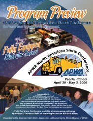 Your Show for Snow! - American Public Works Association