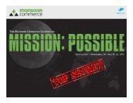 #MonCon MonCon EAST   May 18–20, 2012 - Monsoon Commerce