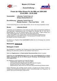 Ausschreibung Musto-LYC-Finale / 22. - Uniqua Deutschland