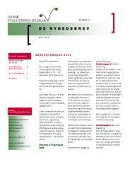 Nyhedsbrev 13. udgave, maj 2011 - Dansk Evalueringsselskab