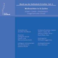 CD Booklet - St. Galler DomMusik