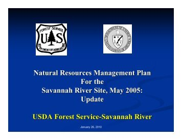 Natural Resources Management Plan For the Savannah ... - SRS CAB