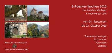 Entdecker‐Wochen 2010 - Bürgernetzverein Nürnberger Land eV