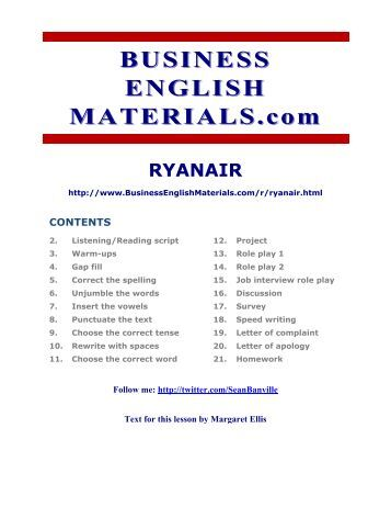 business report on ryan air Essay ryan air case analysis vrine model 682 words nov 23rd luck air had a great business model i will also include strategic information in this report.