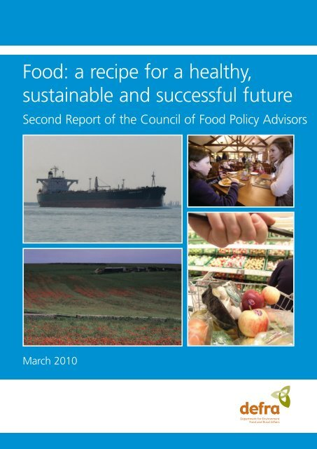 Food: a recipe for a healthy, sustainable and successful future