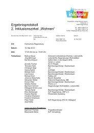 Kurzprotokoll - KJF Regensburg