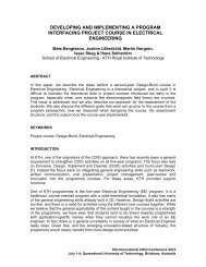developing and implementing a program interfacing project ... - Cdio