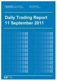 Daily Trading Report 11 September 2011 - EMC - Energy Market ...