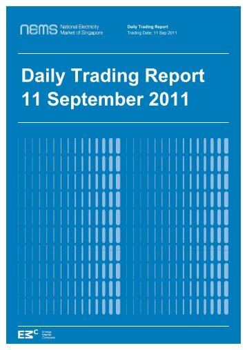Daily Trading Report 11 September 2011 - EMC - Energy Market ...