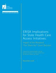 ERISA Implications for State Health Care Access Initiatives: