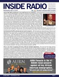 news INSIDE >> Wednesday, April 10, 2013
