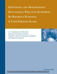 Identifying and Implementing Educational Practices Supported by ...