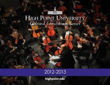 Cultural Events Calendar - High Point University
