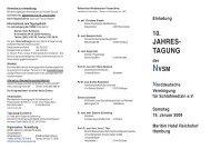 10.NVSM-Jahrestagung 19.1.2008 - Norddeutsche Vereinigung für ...