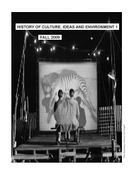 history of culture, ideas and environment 1 fall 2009 - treyf