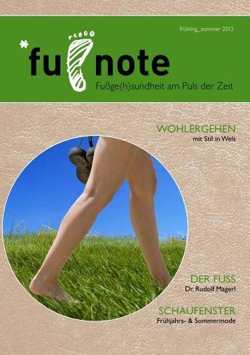 PDF-Download: Fußge(h)sundheit am Puls der Zeit - Berndorfer